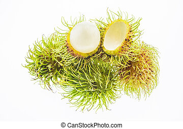 Fresh rambutan isolated on white background