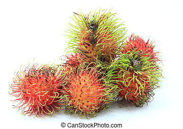 Fresh rambutan sweet delicious fruit of Thailand