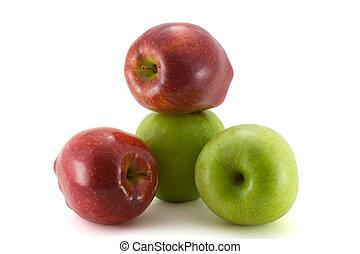 Fresh rape apples in piramida