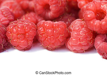 Fresh raspberry isolated on white background