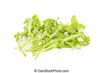 Fresh Raw Arugula (rucola) isolated on white
