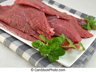 Fresh raw beef fillet