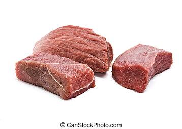 Fresh raw beef piece
