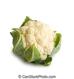 Fresh Raw Cauliflower Vegetables Isolated on White