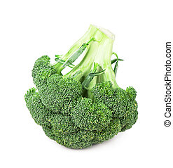 Fresh, Raw, Green Broccoli Pieces