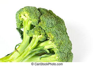 Fresh, Raw, Green Broccoli Pieces, Cut