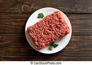 Fresh raw minced meat