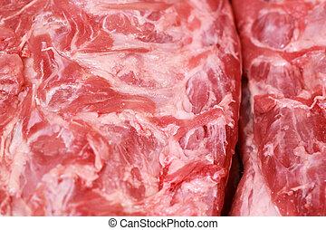 Fresh raw pork textured - in the market