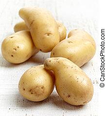 fresh raw potatoes