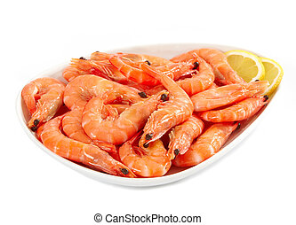 fresh raw prawn