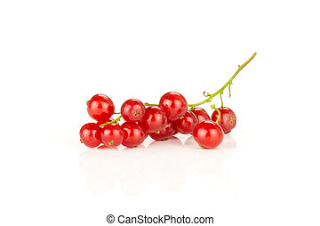 Fresh raw red currant isolated on white