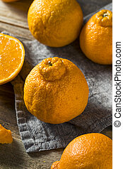 Fresh Raw Sumo Oranges Ready to Eat