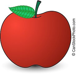 Fresh Red Apple - Abstract Red Delicious Apple Vector Shape...