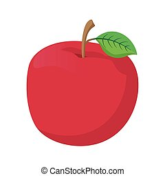 Fresh red apple cartoon icon