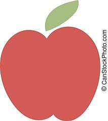 Fresh red apple icon