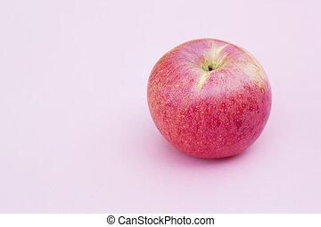 Fresh red apple.