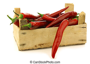 fresh red chili peppers