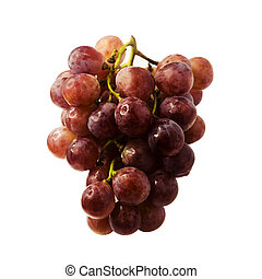 fresh red grape isolated on white clipping path included.