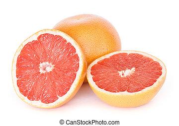 Fresh red grapefruits