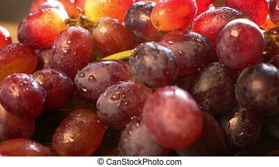 Fresh red Grapes, close up