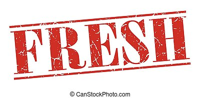 fresh red grunge vintage stamp isolated on white background