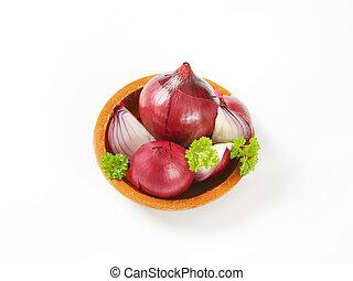 fresh red onions