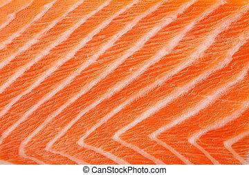 Fresh red salmon texture. Closeup