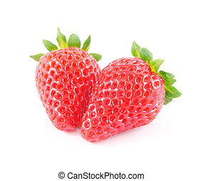 strawberry isolated on white background - fresh red...