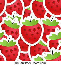 Fresh red strawberry seamless background
