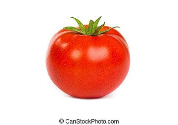 Fresh red tomato isoated on white