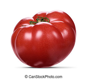 fresh red tomatoes isolated