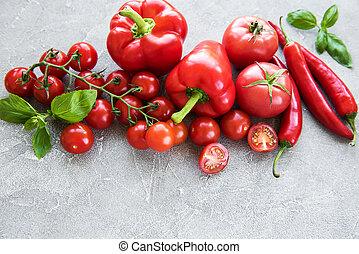 Fresh red vegetables