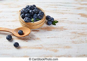 Fresh ripe blueberry close up