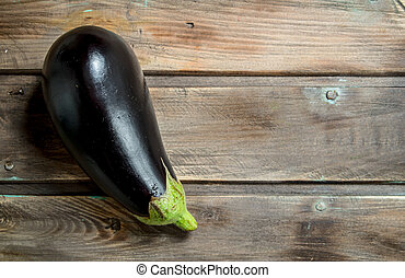 Fresh ripe eggplant.