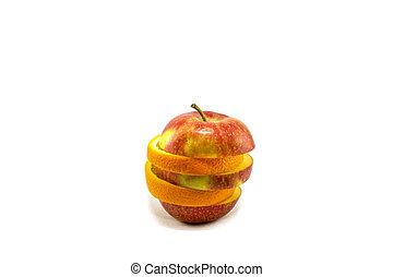 Fresh ripe fruit on a white background