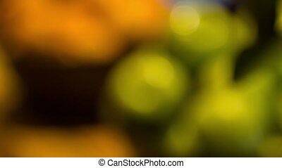 Fresh ripe green apples