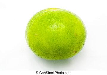 Fresh ripe lime. Isolated on white background