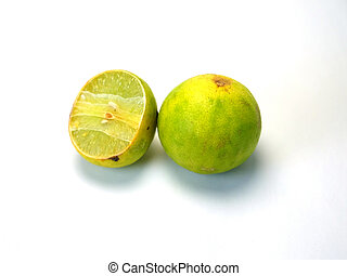 Fresh ripe lime Isolated