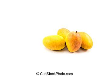 Fresh ripe mango fruit isolated