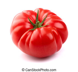 Fresh ripe tomato in closeup