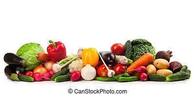 vegetables - Fresh ripe vegetables on white background