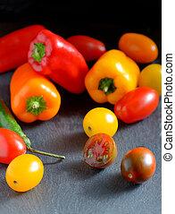 Fresh ripe vegetables tomatoes