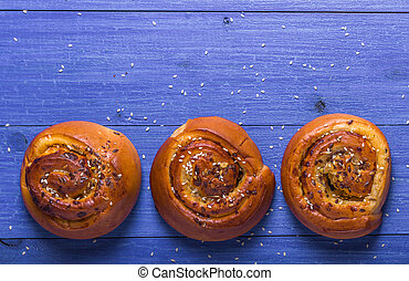 rolls with sesame seeds and sunflower seeds