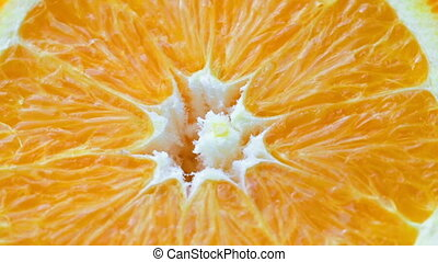 Fresh rotating orange