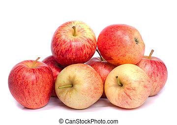 fresh royal gala apples - Close up view of a bunch of royal...