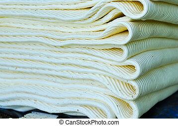 Fresh rubber sheets