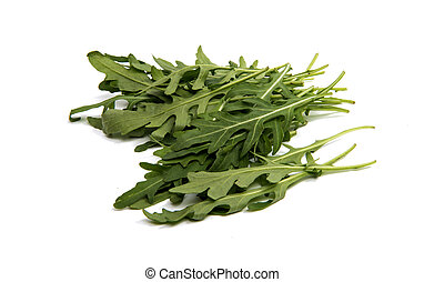 fresh rucola leaves isolated