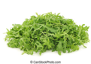 fresh rucola leaves