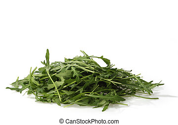 Rucola - Fresh Rucola Salad on bright background