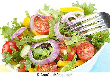 fresh salad bowl closeup